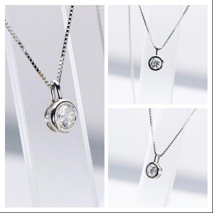 シンプル&カジュアル ダイヤモンドペンダント