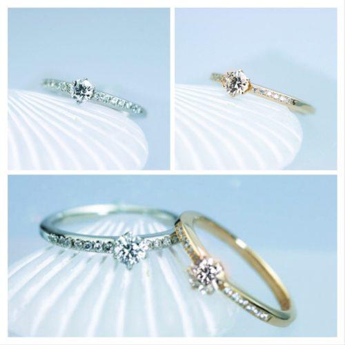 素材違いのダイヤモンドリング