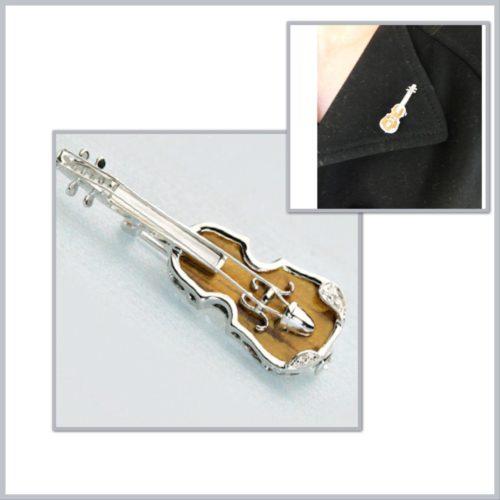 バイオリンのピンブローチ