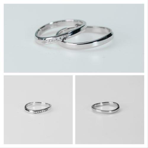 ゆるいカーブのペアリング マリッジリング*結婚指輪