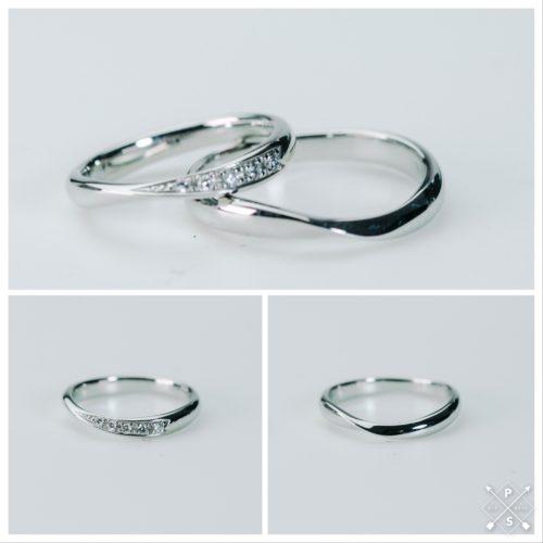 ちょっとボリューミーなマリッジリング*結婚指輪FF01 PT900