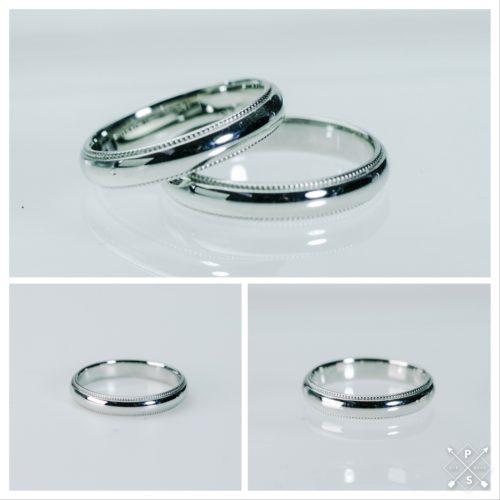 ミル打ちが美しいマリッジリング*結婚指輪