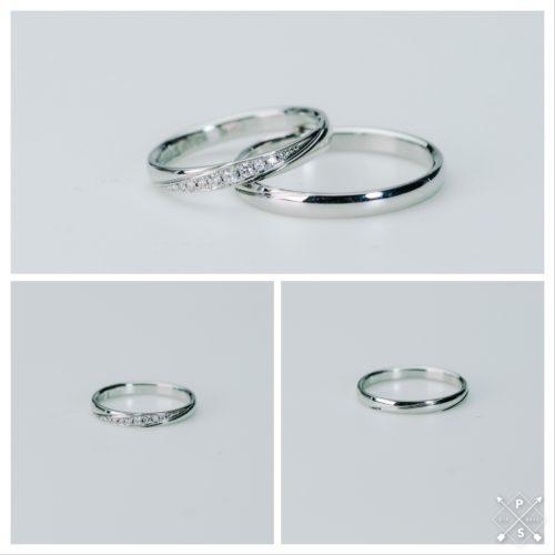 純プラチナの丈夫なリング 綺麗なラインで気品ある指先にpair¥140,800