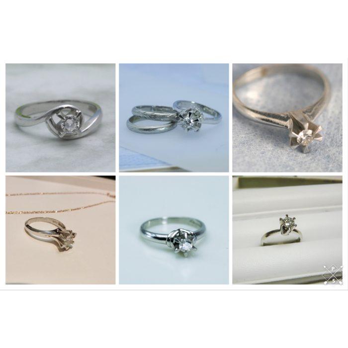 立て爪ダイヤモンドリングのリメイク 作り替えをご紹介します。