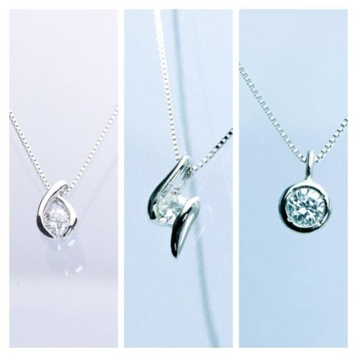 シンプルな定番ダイヤモンドペンダント