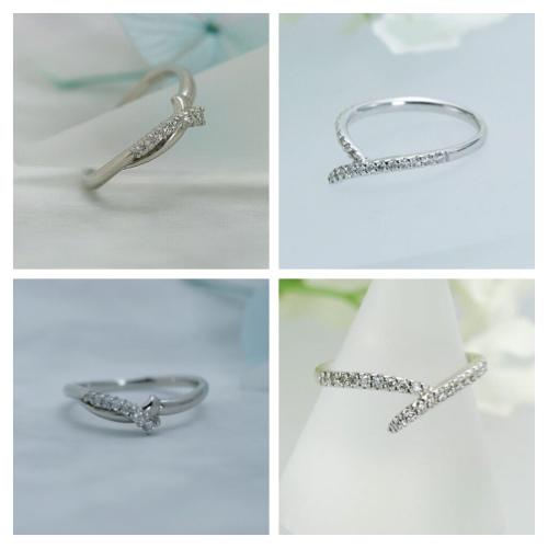 細身のダイヤモンドリング プラチナ