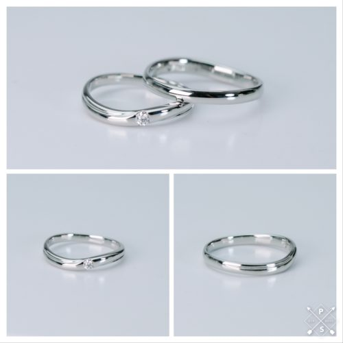 鍛造構造のマリッジリング*結婚指輪