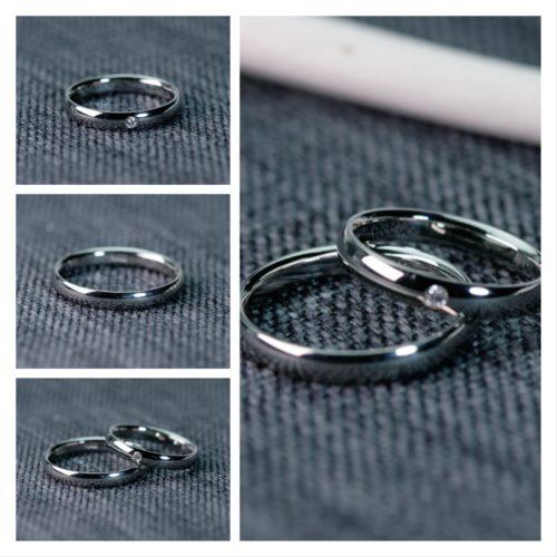 シンプルなプラチナ結婚指輪 鍛造リング