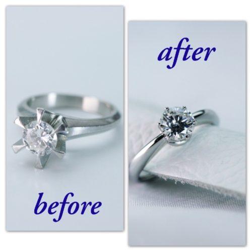 ダイヤモンドリングの爪の形を変えたい