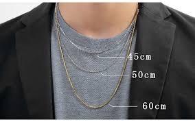 ネックレスの長さ 男性用