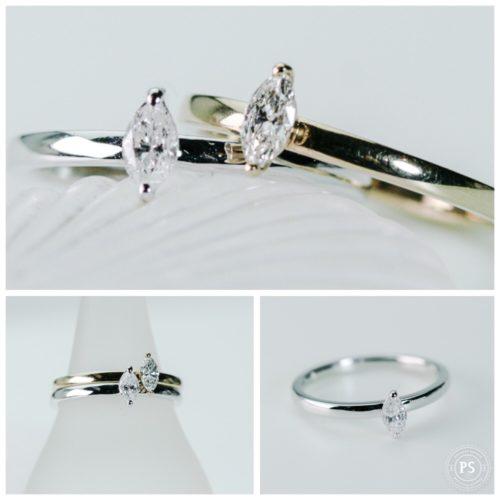 ダイヤモンドリング マーキーズカットのダイヤモンド