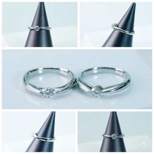 シンプルなダイヤモンドリング エンゲージリング