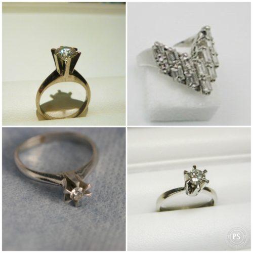 古いデザインのダイヤモンドリングを新しくリメイク