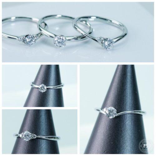 シンプルなダイヤモンドのリング エンゲージリング