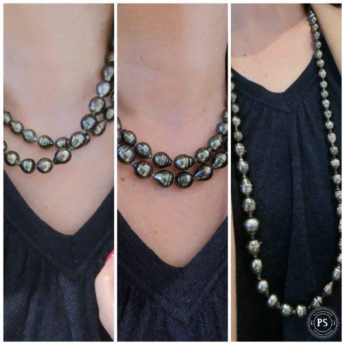ロング 黒真珠