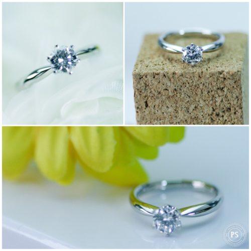 立て爪ダイヤモンドリングから小さな立て爪のリングに